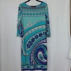 Peck & Peck Women's Sheath Dress 3/4 Sleeve
